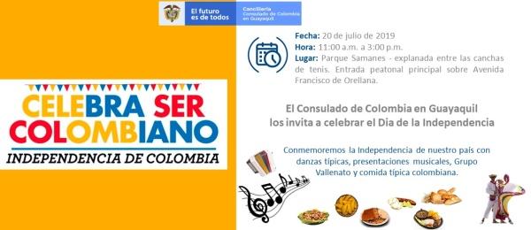 Consulado de Colombia en Guayaquil celebrará el Día de la Independencia el 20 de julio de 2019